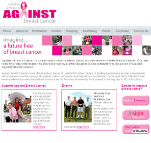 Against Breast cancer home page image