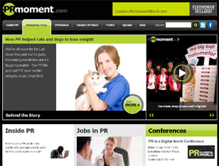 PRmoment home page image